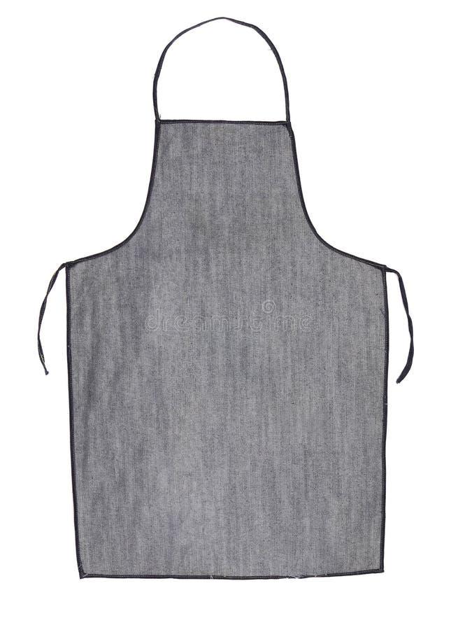 Tablier gris de jeans. images libres de droits