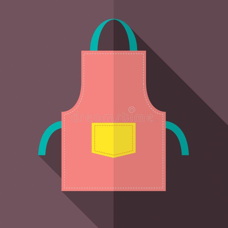 Tablier plat de conception illustration stock