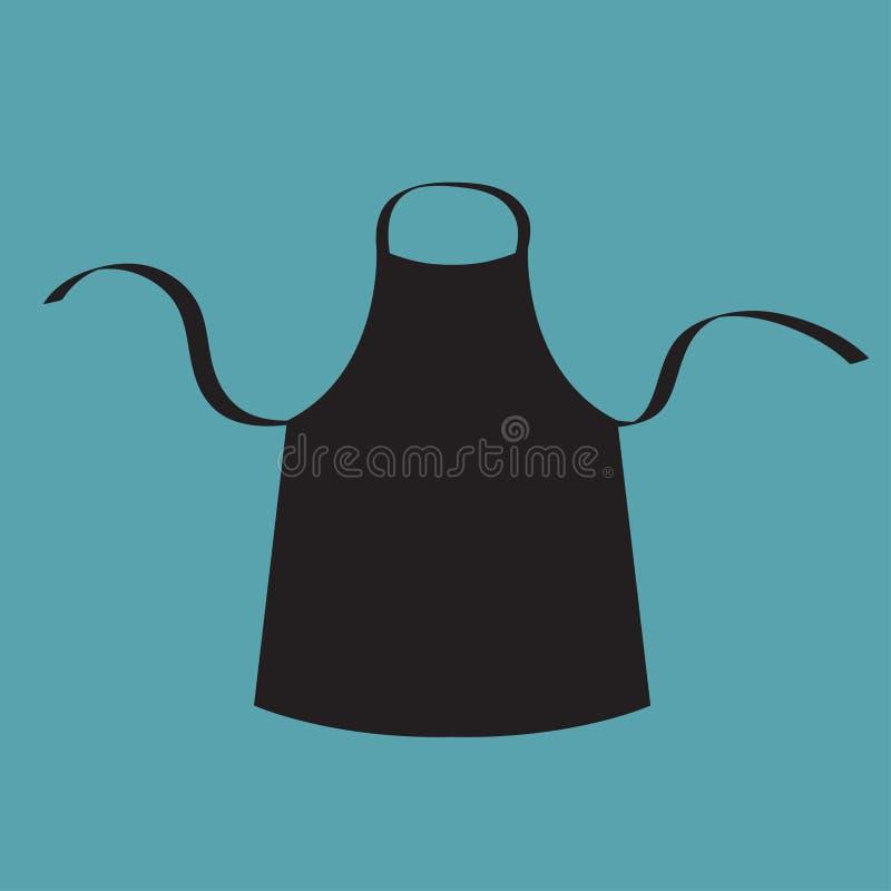 Tablier vide noir de coton de cuisine uniforme pour le for Tablier de cuisine noir