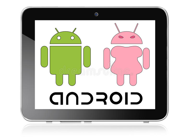 Tableta androide ilustración del vector
