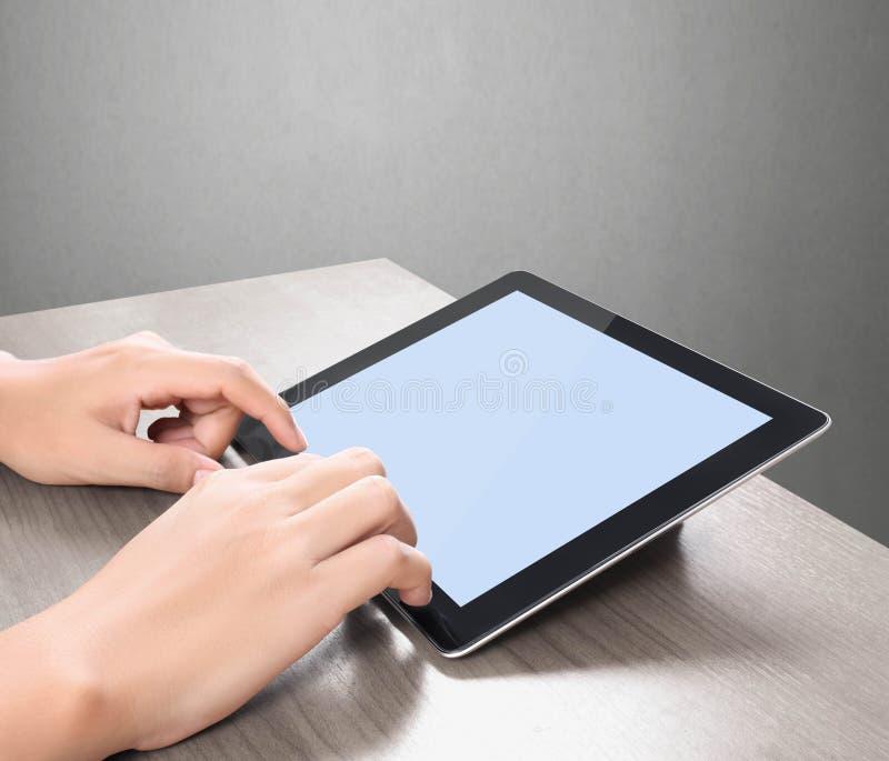 Tablilla de la pantalla táctil ilustración del vector