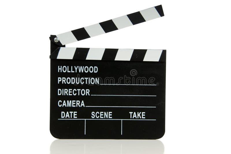 Tablilla de la película de Hollywood imágenes de archivo libres de regalías