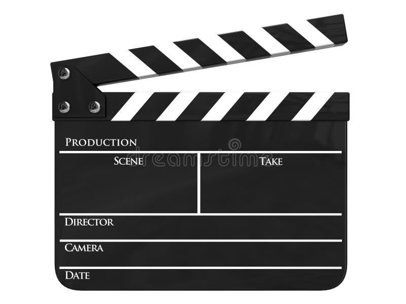 Tablilla de la producción de la película aislada fotos de archivo