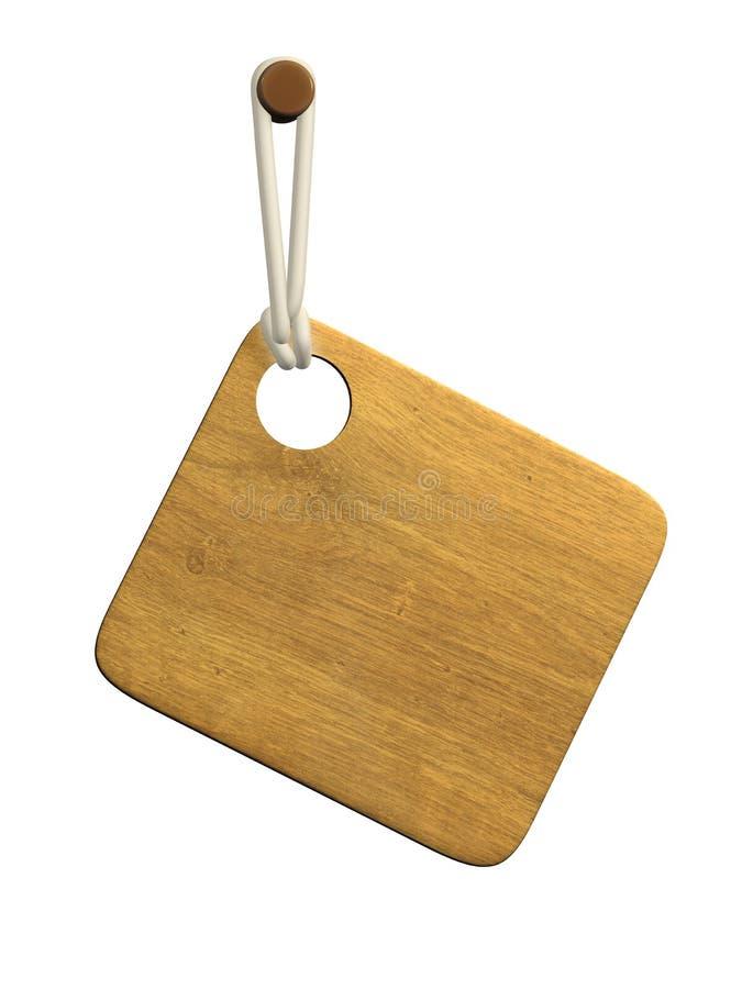 tablilla de madera 3d stock de ilustración