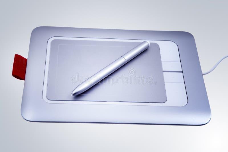 Tablilla electrónica de la pluma de gráfico aislada imagen de archivo libre de regalías