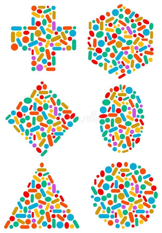 Tablillas de las cápsulas ilustración del vector