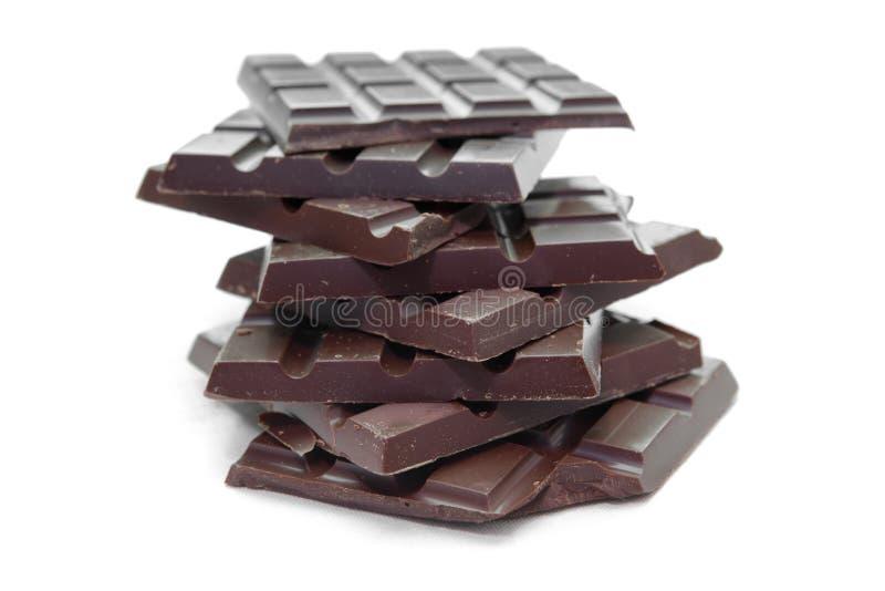 Tablillas oscuras del chocolate fotografía de archivo