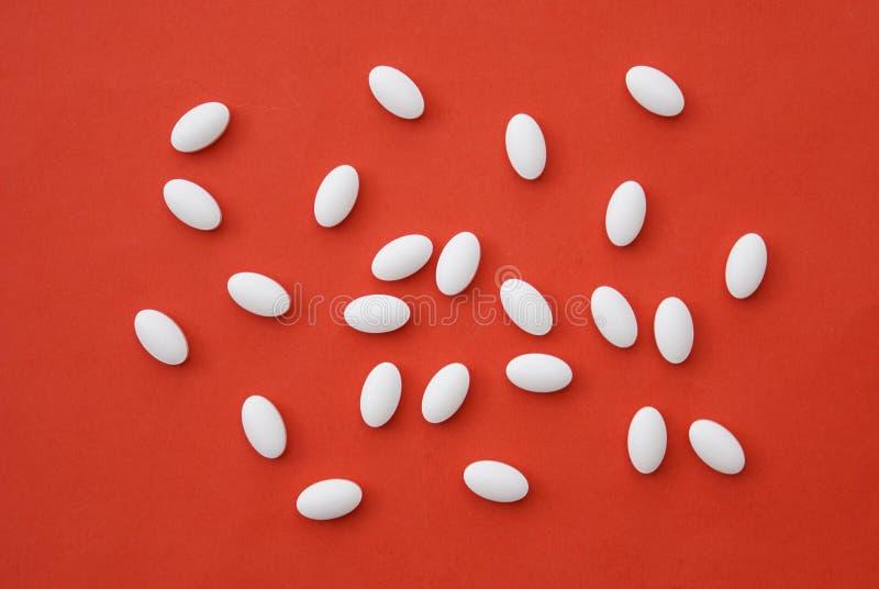 tablillas Píldoras en blanco suplementos Droga imagen de archivo