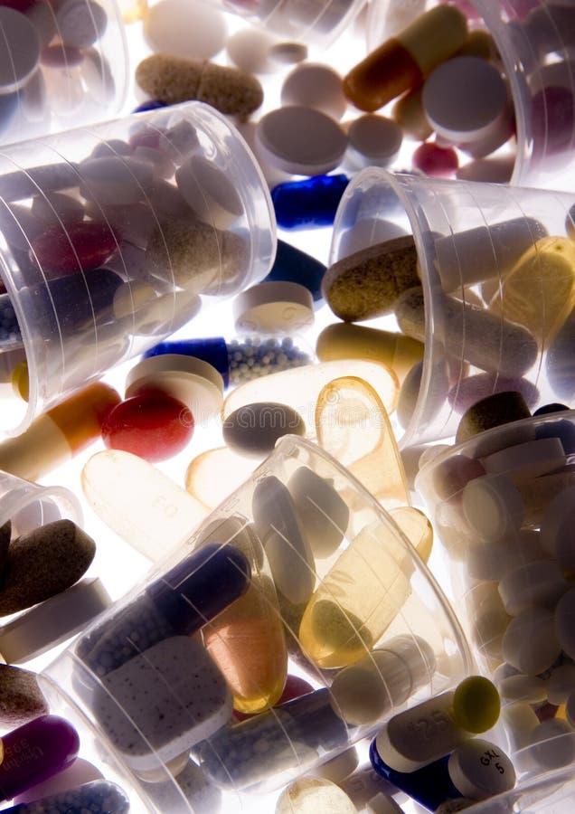 Tablillas y medicinas fotos de archivo