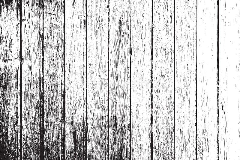 Tablones de madera apenados stock de ilustración
