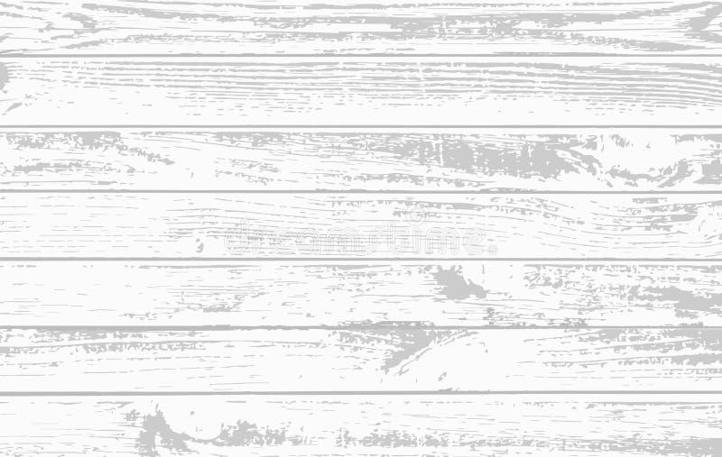 Tablones de madera blancos, superficie del piso de la tabla Cortar a la tajadera Textura de madera Ilustración del vector stock de ilustración
