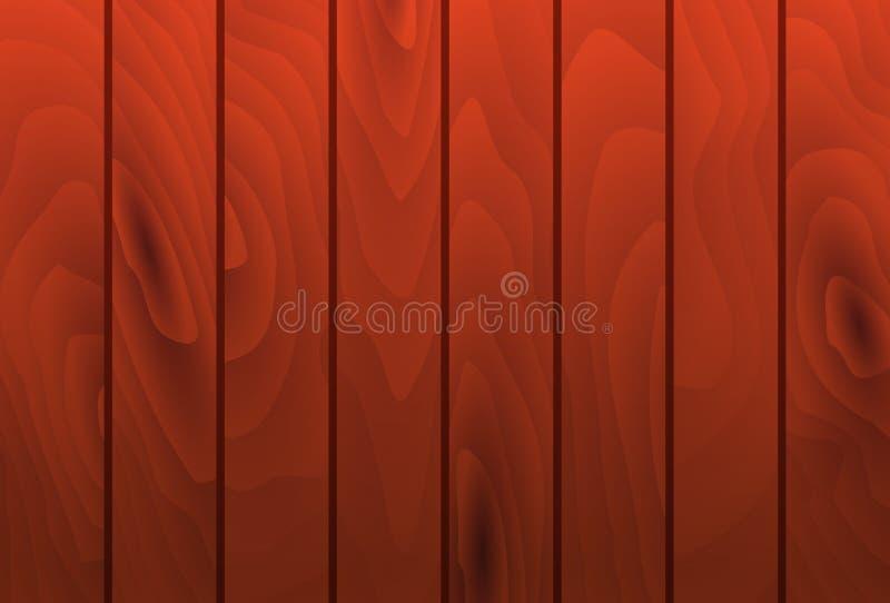 Tablones de madera de caoba de la textura del grano del vector De madera libre illustration