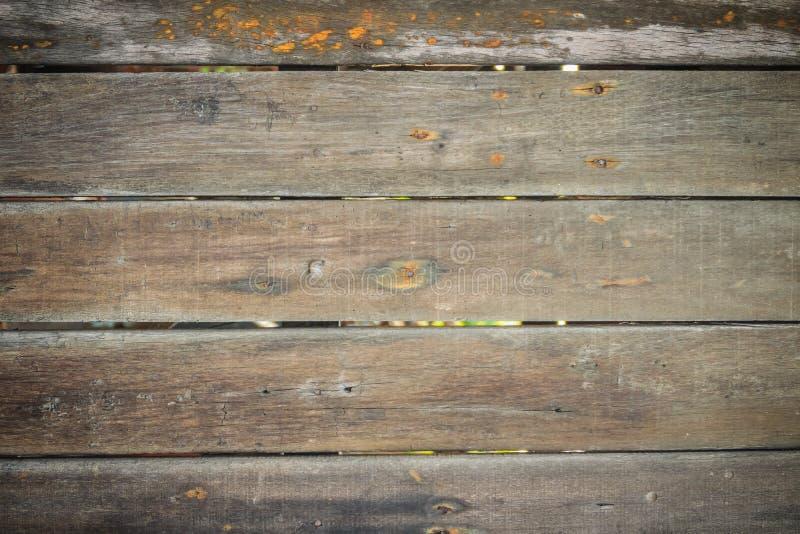 Tablones de madera de la pared en la cabaña vieja Backgrou superficial de madera del vintage foto de archivo libre de regalías