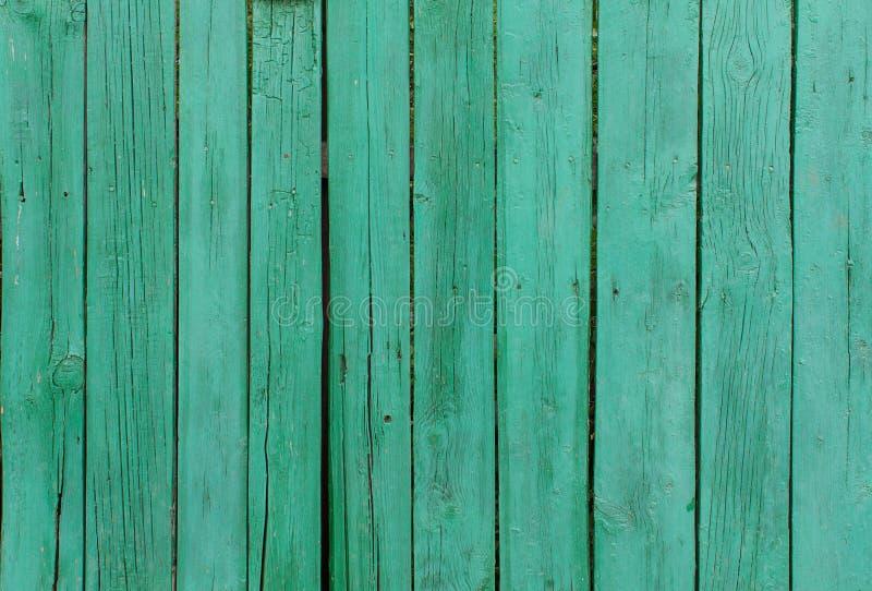 Tablones de madera pintados verde imagen de archivo libre de regalías