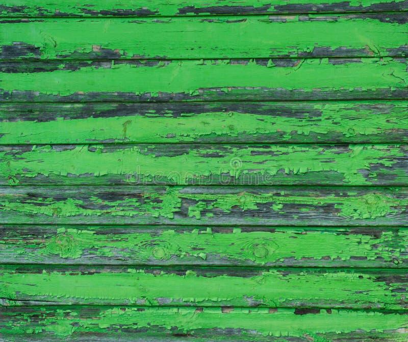 Tablones de madera resistidos viejos pintados en verde fotografía de archivo libre de regalías