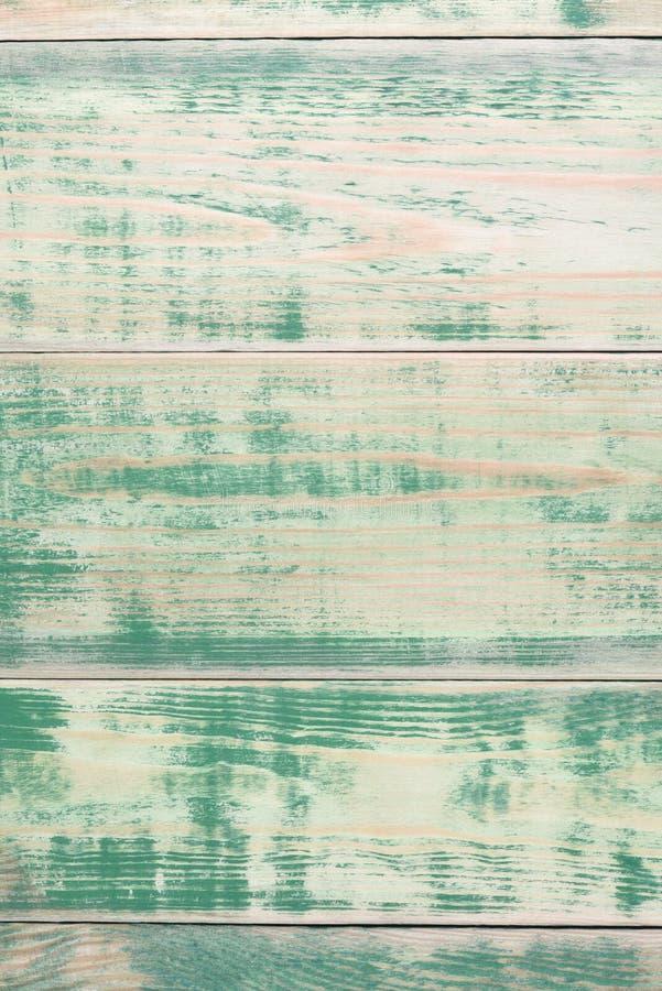 Tablones de madera verdes pintados viejos imagen de archivo