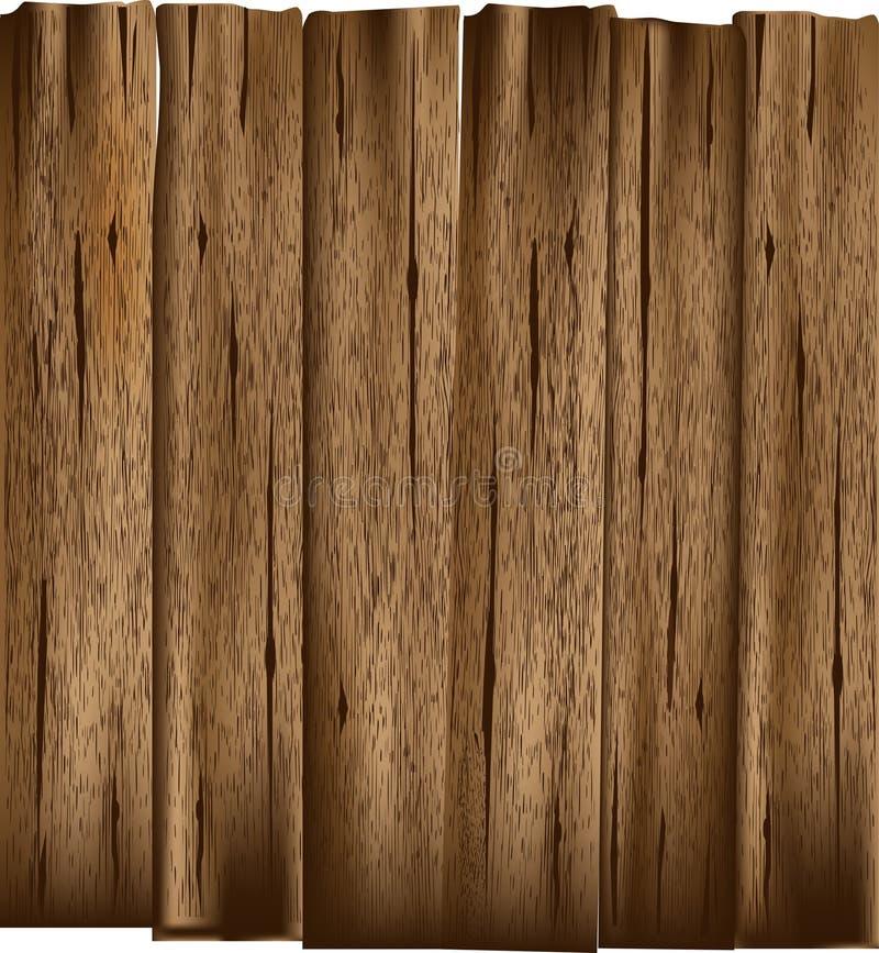 Tablones de madera viejos stock de ilustración