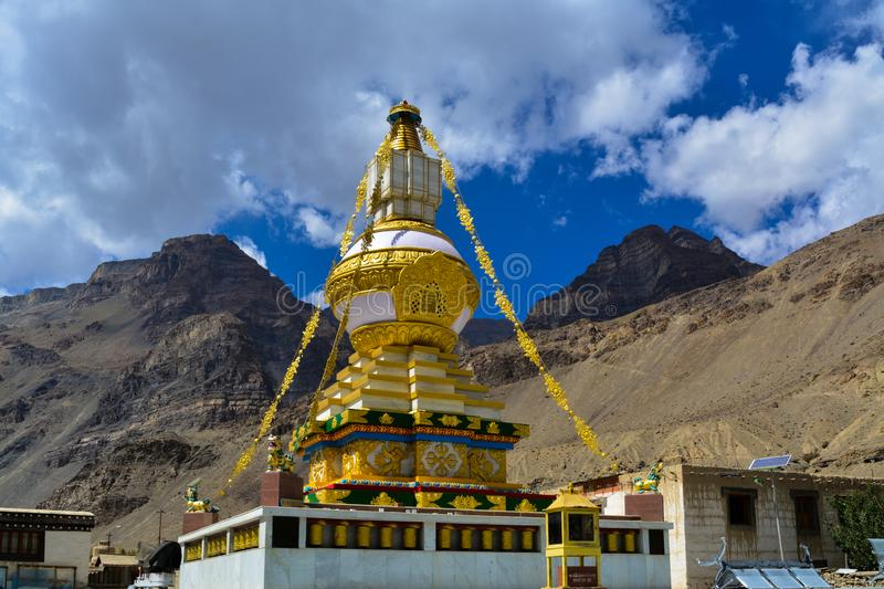 Tabo monastery in Himachal Pradesh, India. Tabo Monastery is located in the Tabo village of Spiti Valley, Himachal Pradesh, northern India. It is noted for being stock photography