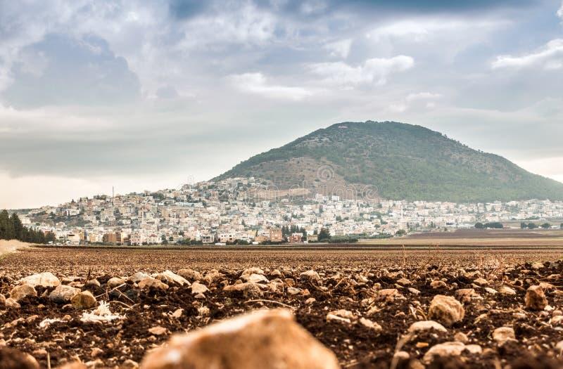 Tabor berg och Jezreel dal i Galilee, Israel royaltyfri bild