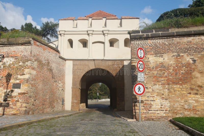 Tabor brama Taborska Braniec wejście forteczny Vyseh fotografia royalty free