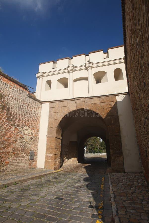Tabor brama Taborska Braniec wejście forteczny Vyseh zdjęcia royalty free