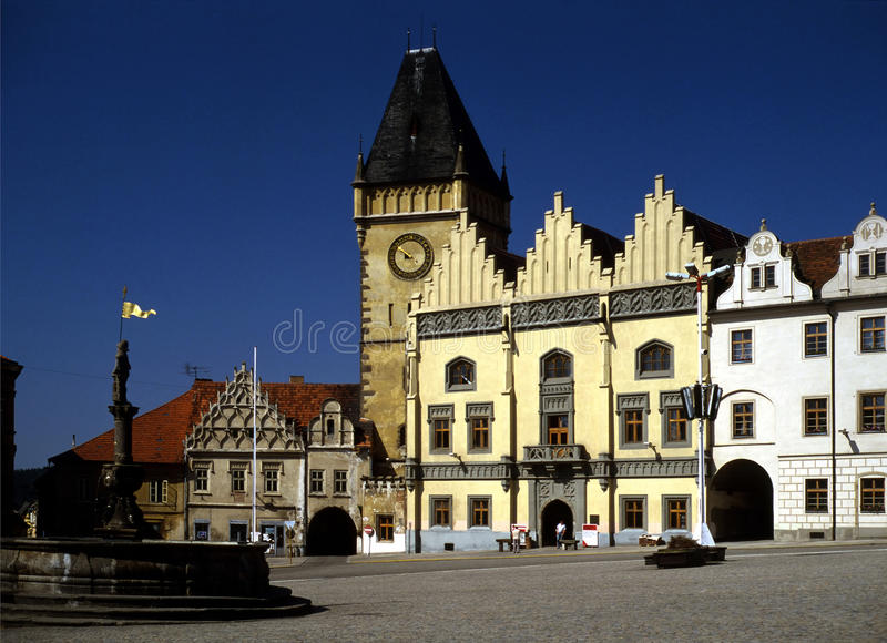 Tabor, Czech Republic. Main Square in Tabor, Czech Republic royalty free stock images