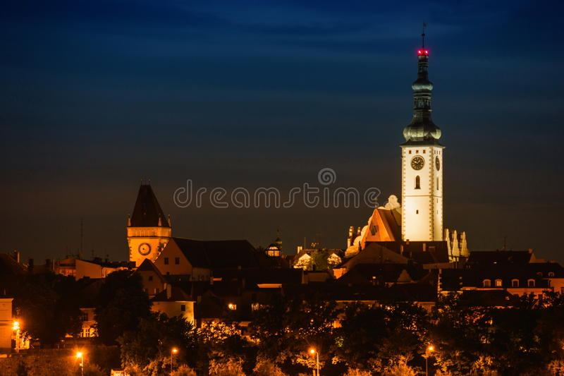 Tabor, Czech Republic. Evening in Tabor, Czech Republic stock image