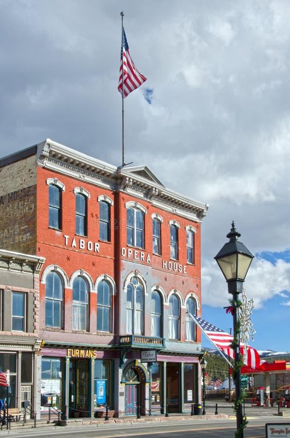 Tabor operahus i Leadville, Colorado royaltyfri fotografi