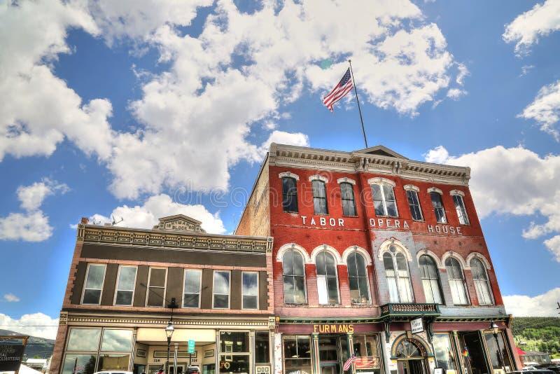 Tabor operahus, Leadville, Colorado arkivbilder