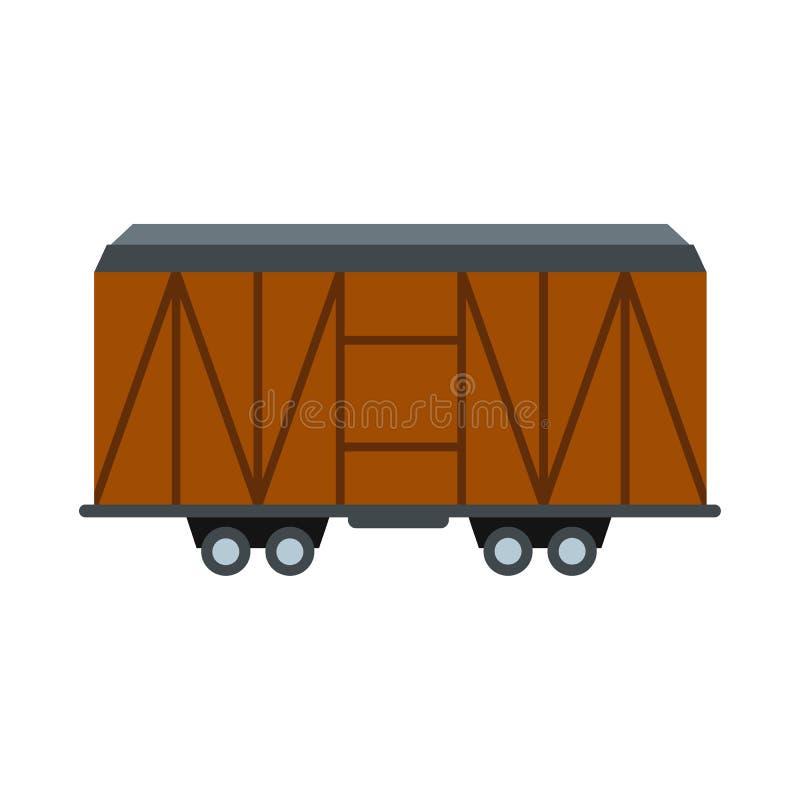 Taborowa ładunku furgonu ikona royalty ilustracja