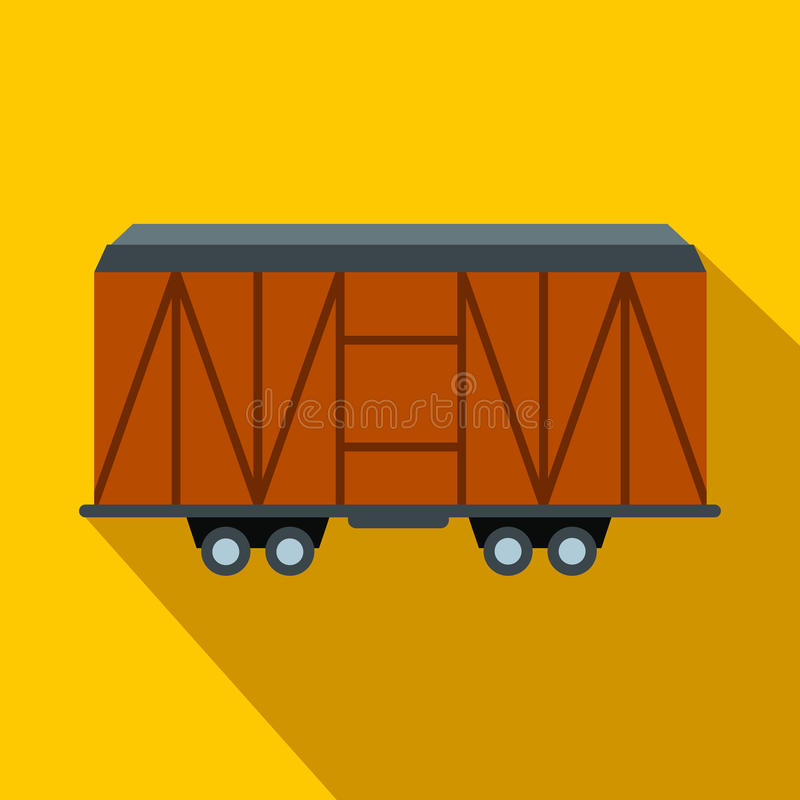 Taborowa ładunku furgonu mieszkania ikona ilustracji
