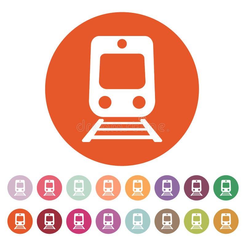 Taborowa ikona Kolejowy symbol mieszkanie ilustracja wektor