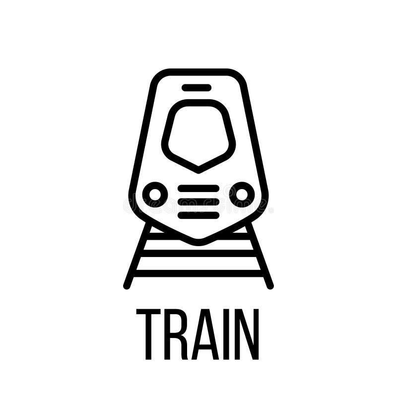 Taborowa ikona lub logo w nowożytnym kreskowym stylu ilustracja wektor