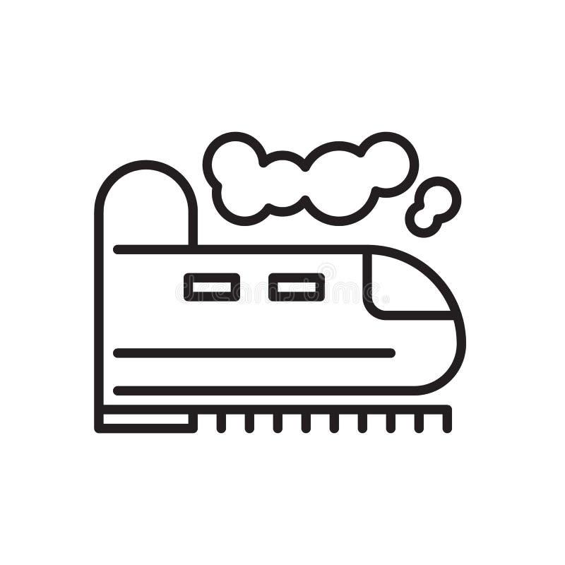 Taborowa kreskowa ikona, konturu wektoru znak, liniowy stylowy piktogram odizolowywający na bielu ilustracja wektor