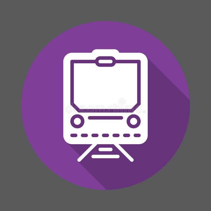 Taborowa płaska ikona Round kolorowy guzik, kółkowy wektoru znak z długim cienia skutkiem Mieszkanie stylu projekt ilustracja wektor
