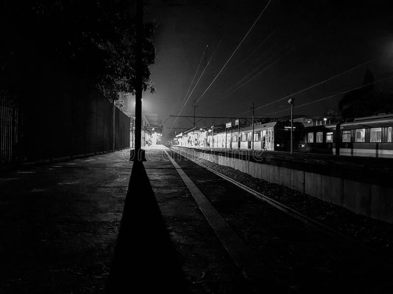 Taborowa platforma Monochromatic sceneria obrazy stock
