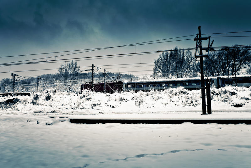 taborowa zima obraz stock