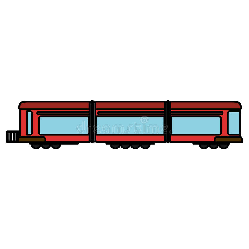 taborowego furgonu sztachetowy transport ilustracji