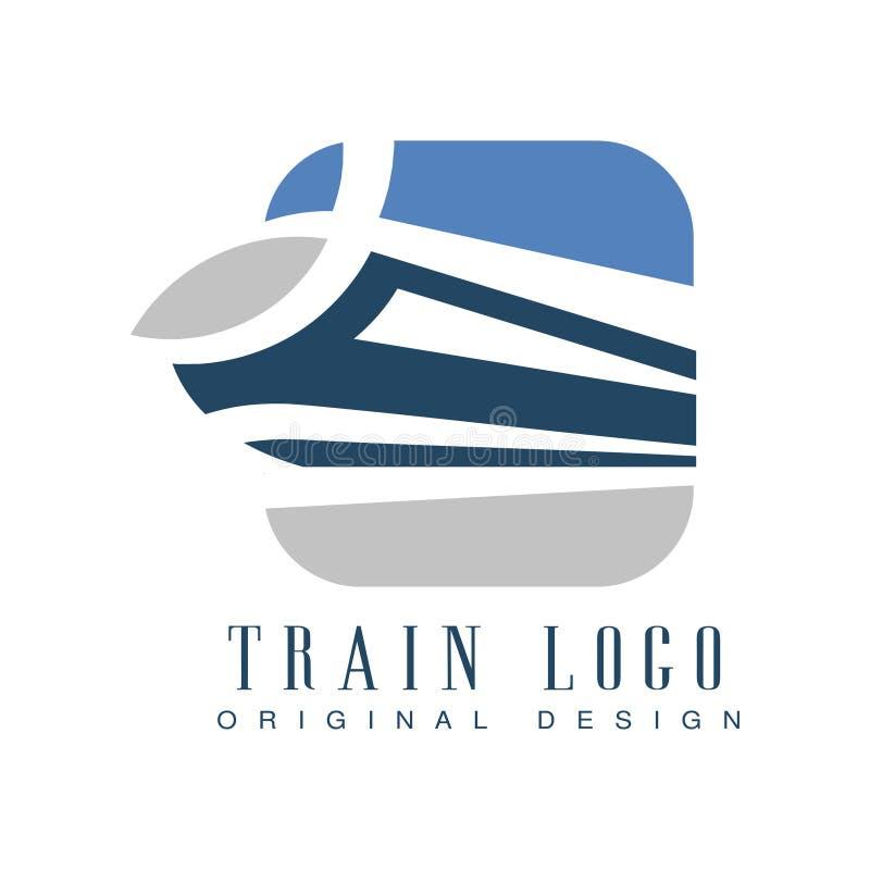 Taborowego loga oryginalny projekt, kolejowego transportu emblemata wektoru ilustracja royalty ilustracja