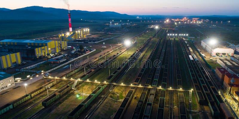Taborowy coalmining eksporta transport zdjęcie stock