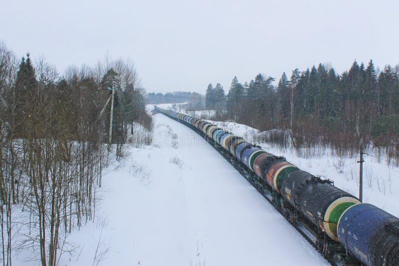 Taborowy Russia w zimie iść Novgorod obraz royalty free