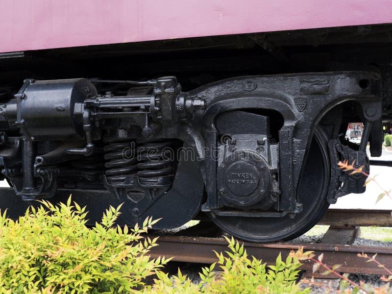 Taborowy szczegół przy Casey Jones domem Historycznym linii kolejowej muzeum w Jackson &, Tennessee zdjęcia stock