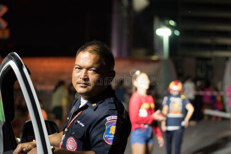 Taborowy wykolejenie w Nakhon Ratchasima, Tajlandia 10/7/2017 zdjęcie stock