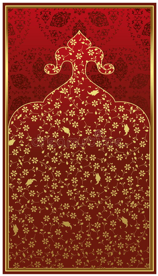 tabouret antique d'or de conception illustration de vecteur