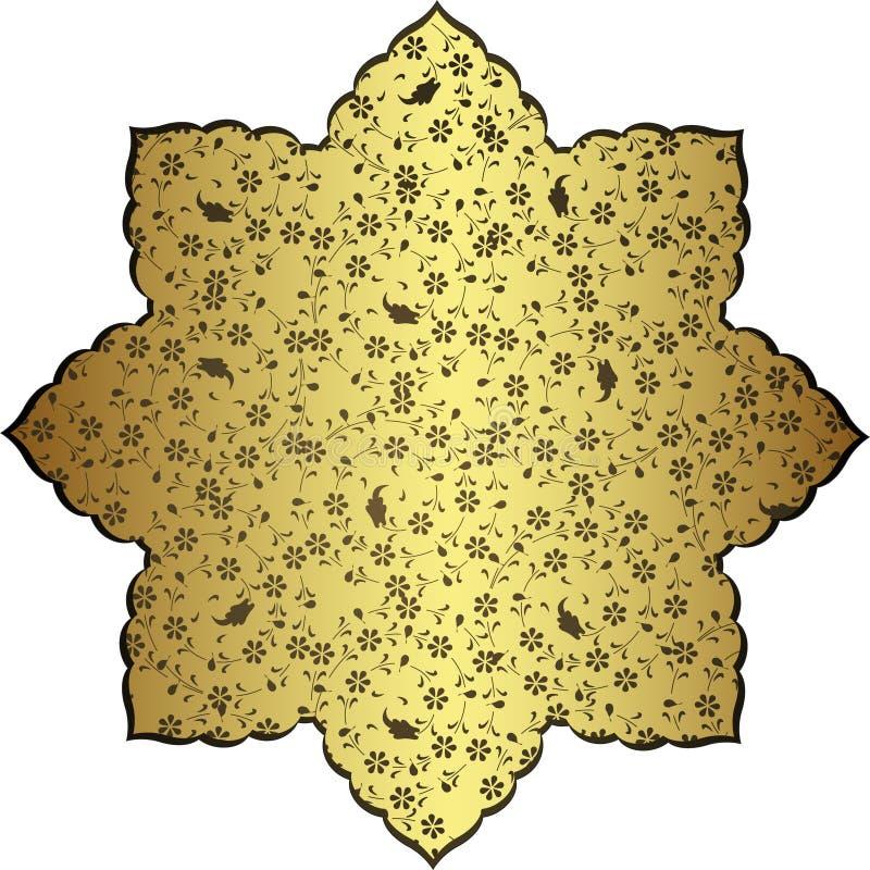tabouret antique d'or de conception illustration stock