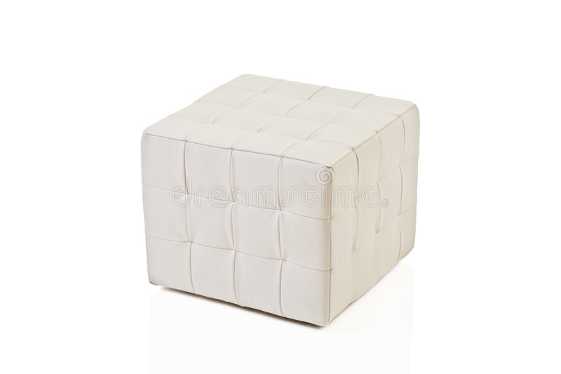 Tabouret blanc photo stock