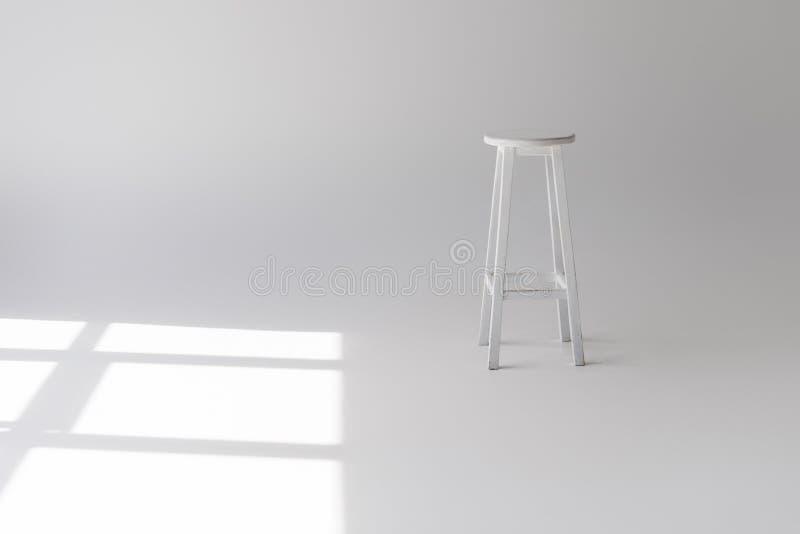 tabouret blanc moderne vide simple images libres de droits