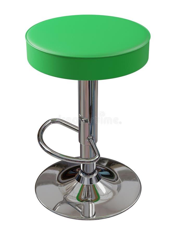 Tabouret de bar vert d'isolement sur le fond blanc image stock