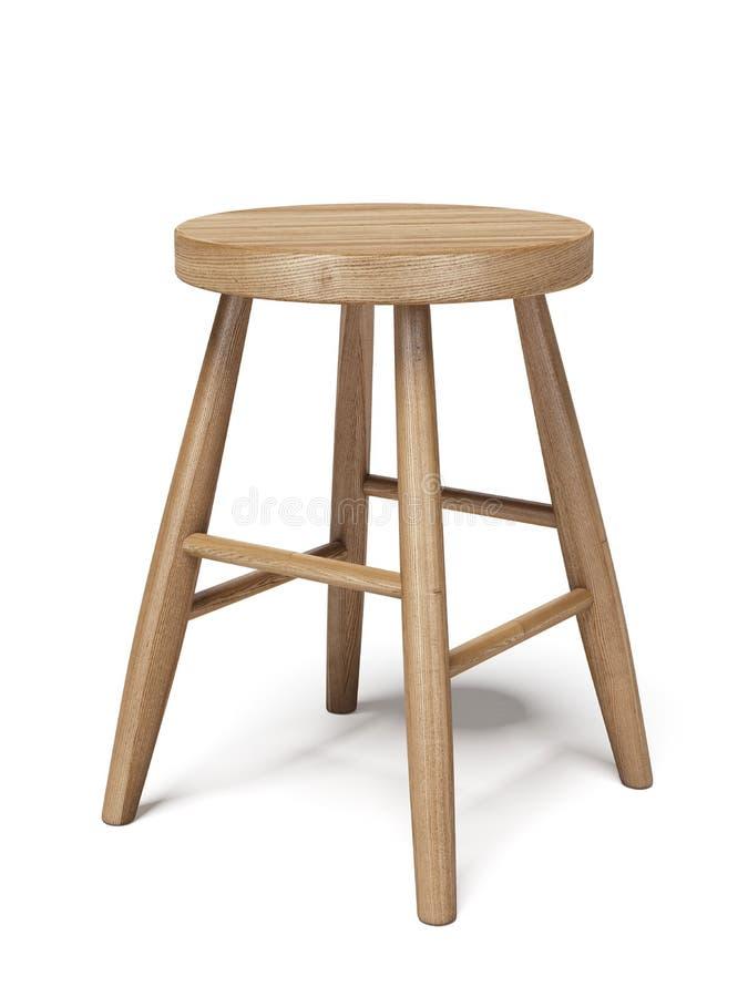 Tabouret en bois illustration de vecteur