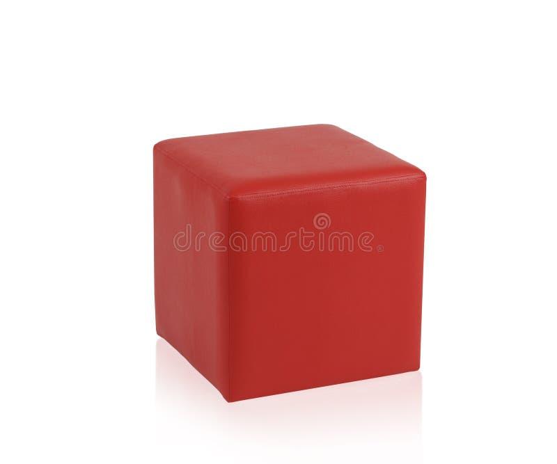 Tabouret en cuir rouge image stock